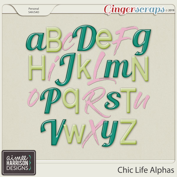 Chic Life Alpha Sets by Aimee Harrison
