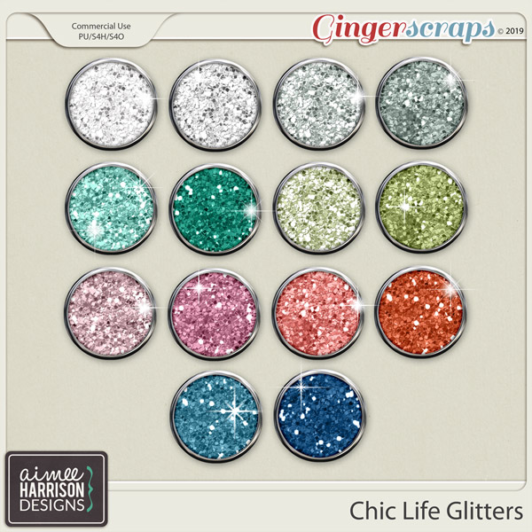 Chic Life Glitters by Aimee Harrison