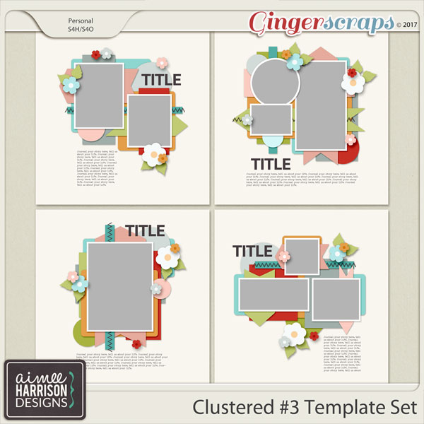 Clustered #3 Template Set by Aimee Harrison