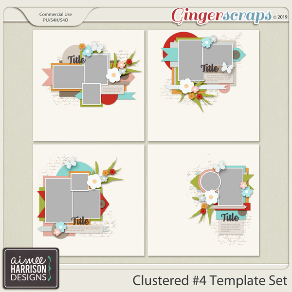 Clustered #4 Templates by Aimee Harrison
