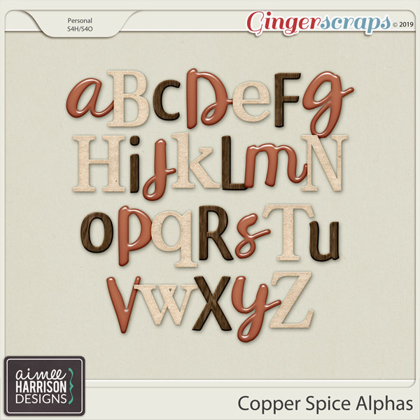Copper Spice Alpha Sets by Aimee Harrison