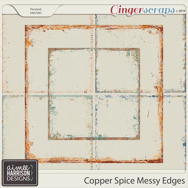 Copper Spice Messy Edges by Aimee Harrison