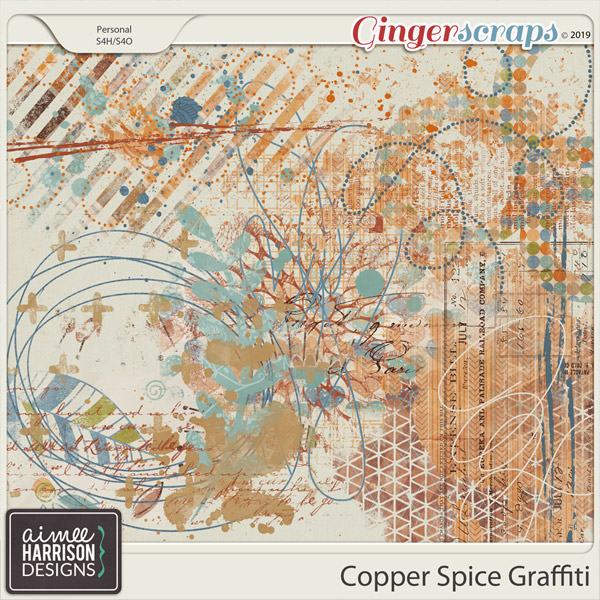 Copper Spice Graffiti by Aimee Harrison