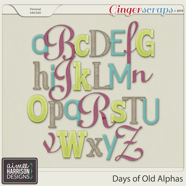 Days of Old Alpha Sets by Aimee Harrison