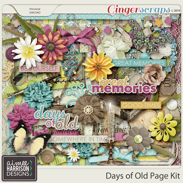 Days of Old Page Kit by Aimee Harrison