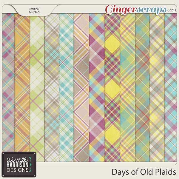 Days of Old Plaid Papers by Aimee Harrison