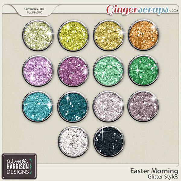 Easter Morning Glitters by Aimee Harrison