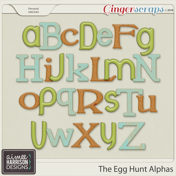The Egg Hunt Alpha Sets by Aimee Harrison