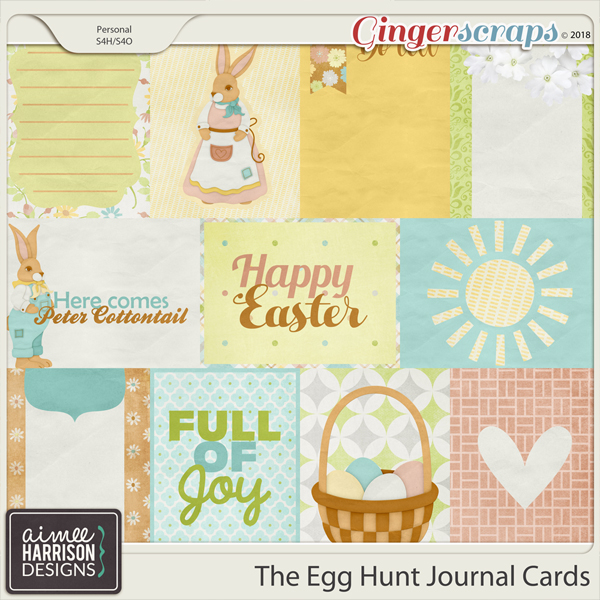 The Egg Hunt Journal Cards by Aimee Harrison