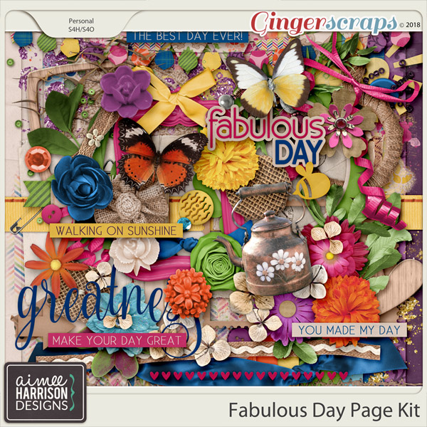 A Fabulous Day Page Kit by Aimee Harrison