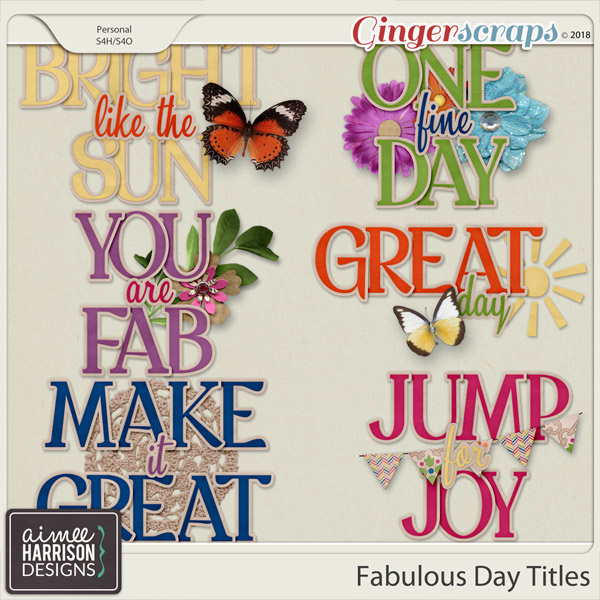 A Fabulous Day Titles by Aimee Harrison