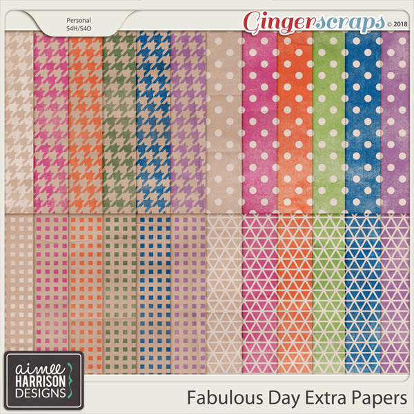 A Fabulous Day Extra Papers by Aimee Harrison