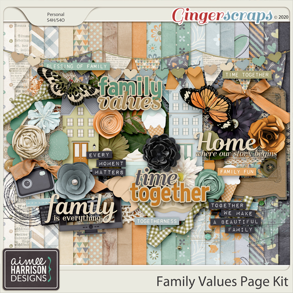 Family Values Page Kit by Aimee Harrison