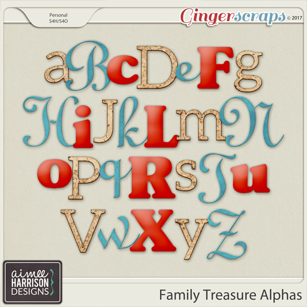 Family Treasure Alpha Sets by Aimee Harrison