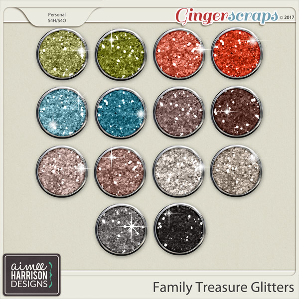 Family Treasure Glitters by Aimee Harrison