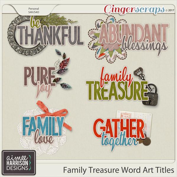 Family Treasure Word Art by Aimee Harrison