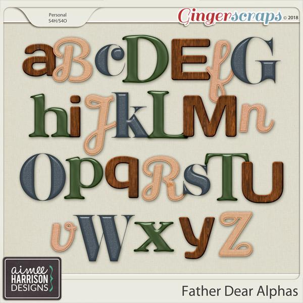 Father Dear Alpha Sets by Aimee Harrison