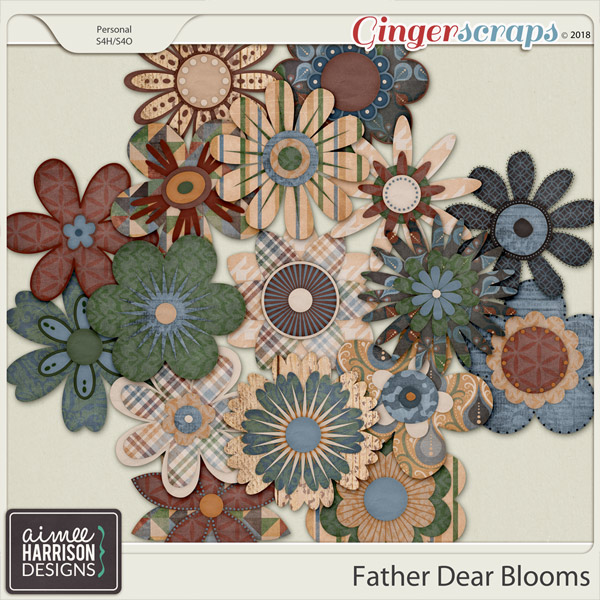 Father Dear Blooms by Aimee Harrison