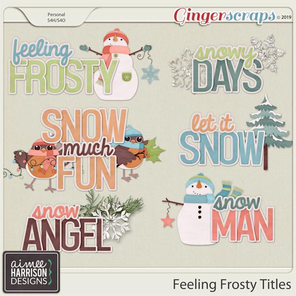 Feeling Frosty Titles by Aimee Harrison