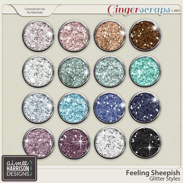 Feeling Sheepish Glitters by Aimee Harrison