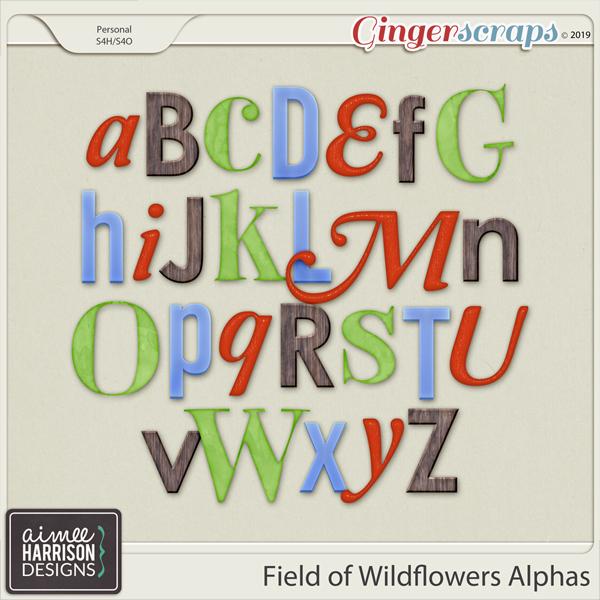 Field of Wildflowers Alpha Sets by Aimee Harrison