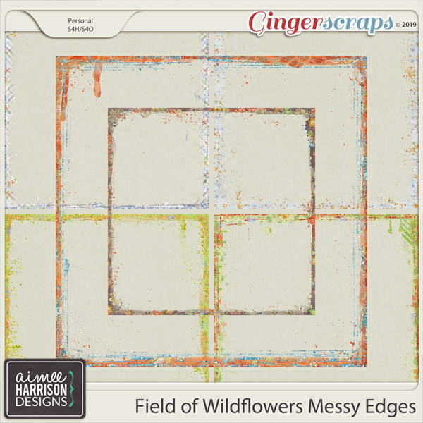 Field of Wildflowers Messy Edges by Aimee Harrison