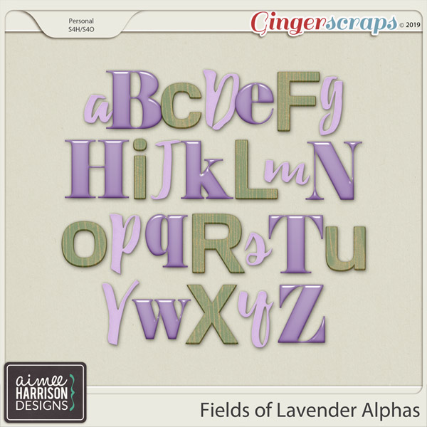 Fields of Lavender Alpha Sets by Aimee Harrison