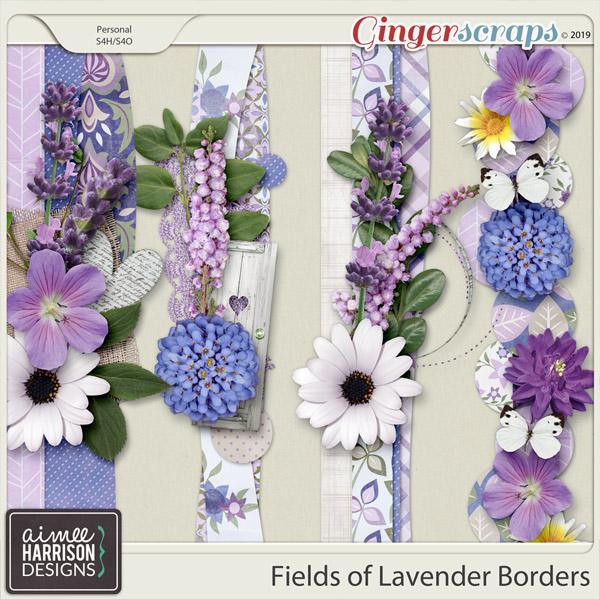Fields of Lavender Borders by Aimee Harrison