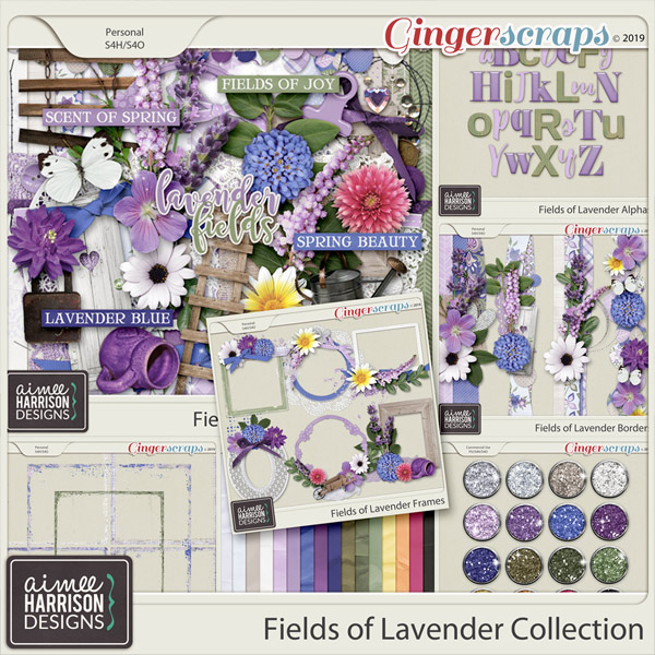Fields of Lavender Collection by Aimee Harrison