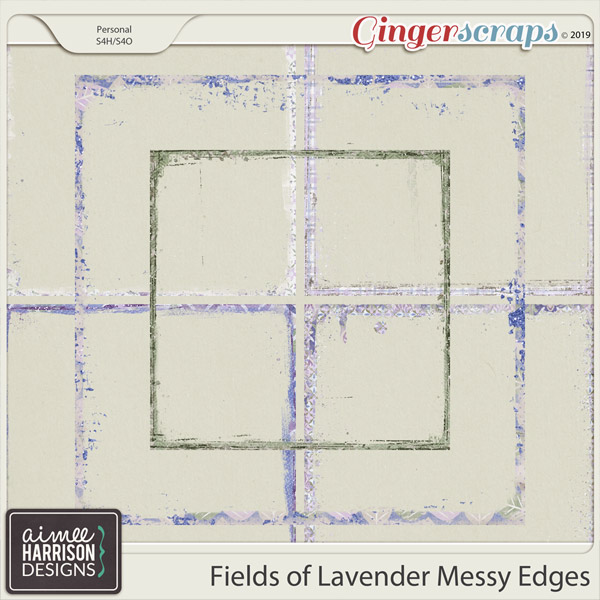 Fields of Lavender Messy Edges by Aimee Harrison