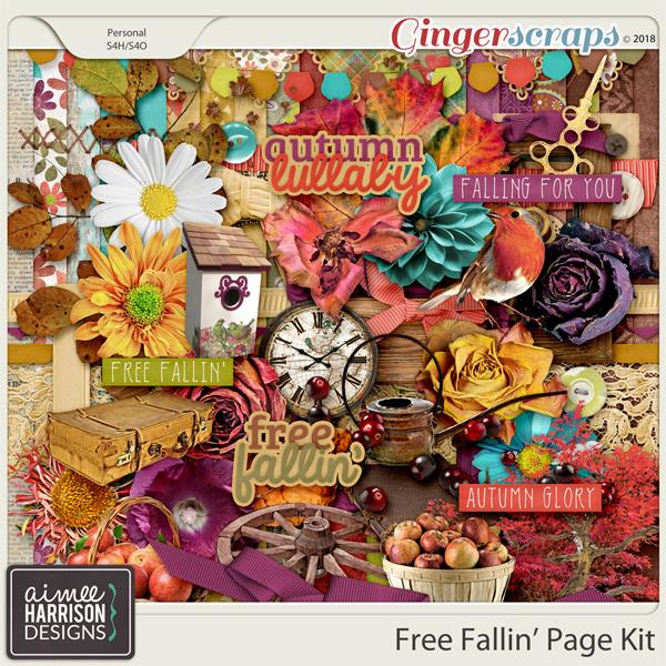 Free Fallin' Page Kit by Aimee Harrison