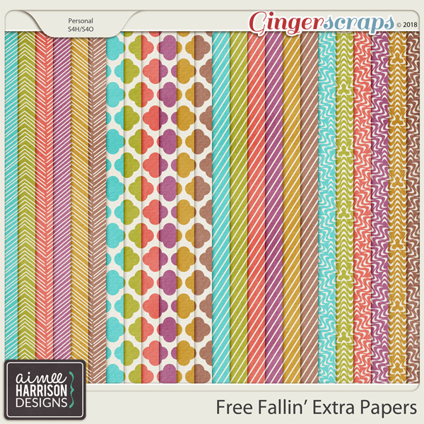Free Fallin' Extra Papers by Aimee Harrison