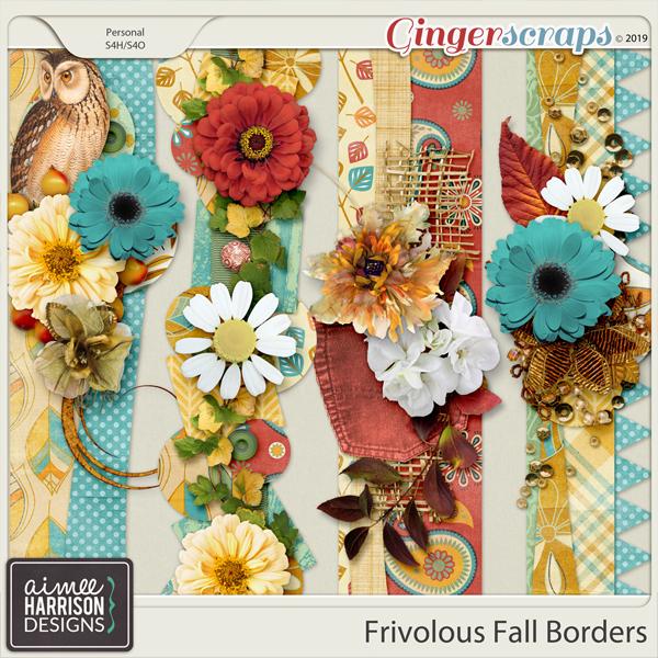 Frivolous Fall Borders by Aimee Harrison