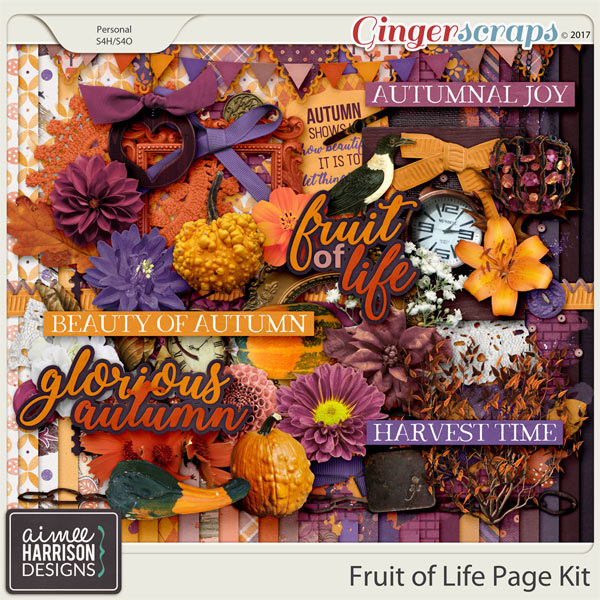 Fruit of Life Page Kit by Aimee Harrison
