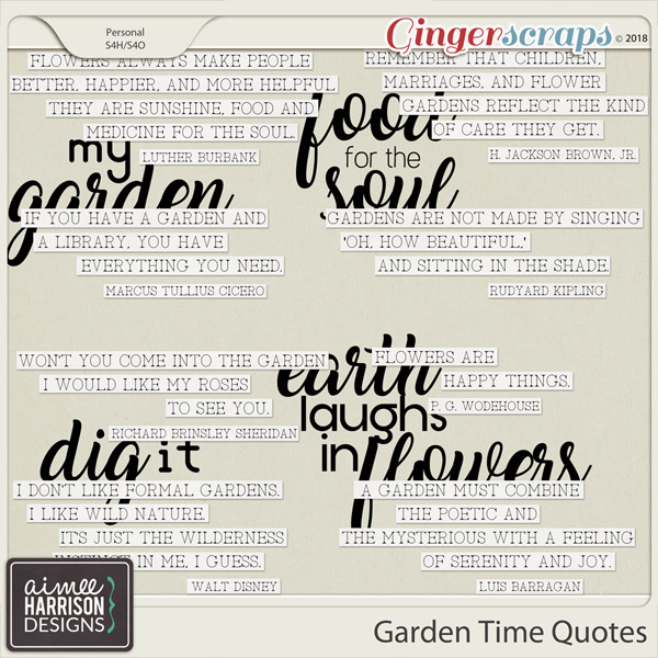 Garden Time Quotes by Aimee Harrison