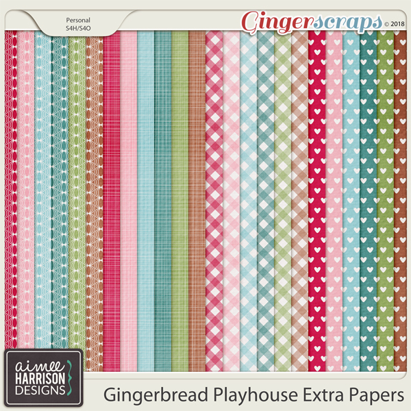 Gingerbread Playhouse Extra Papers by Aimee Harrison