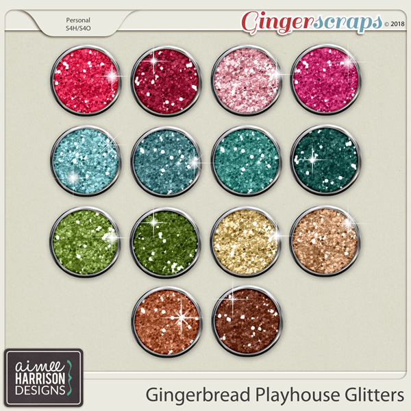 Gingerbread Playhouse Glitters by Aimee Harrison