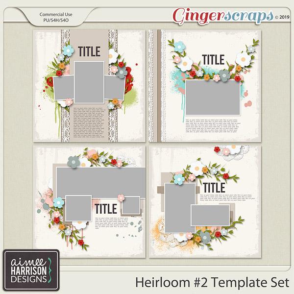 Heirloom #2 Templates by Aimee Harrison