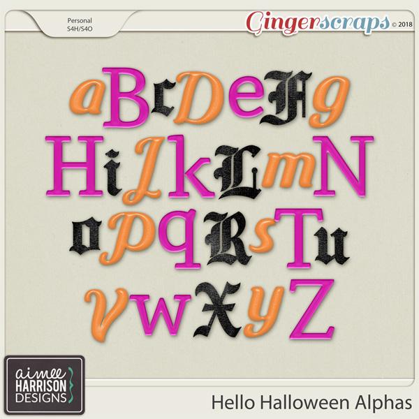 Hello Halloween Alpha Sets by Aimee Harrison