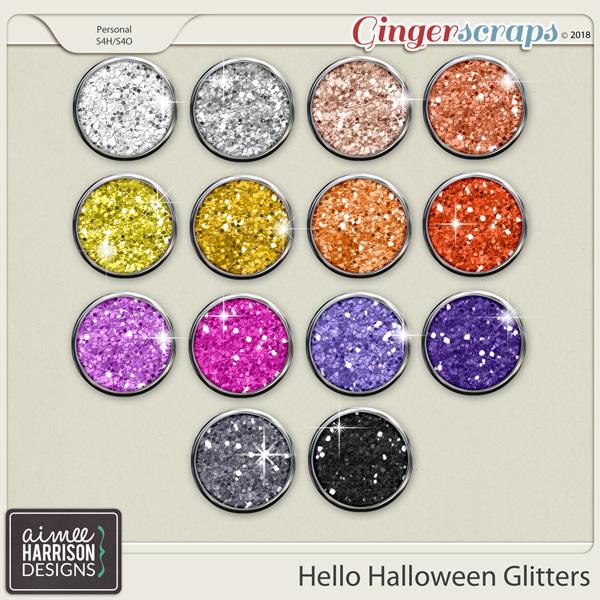 Hello Halloween Glitters by Aimee Harrison