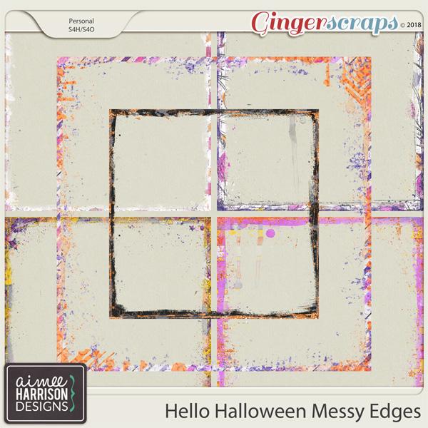 Hello Halloween Messy Edges by Aimee Harrison