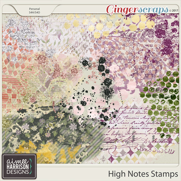 High Notes Stamps by Aimee Harrison