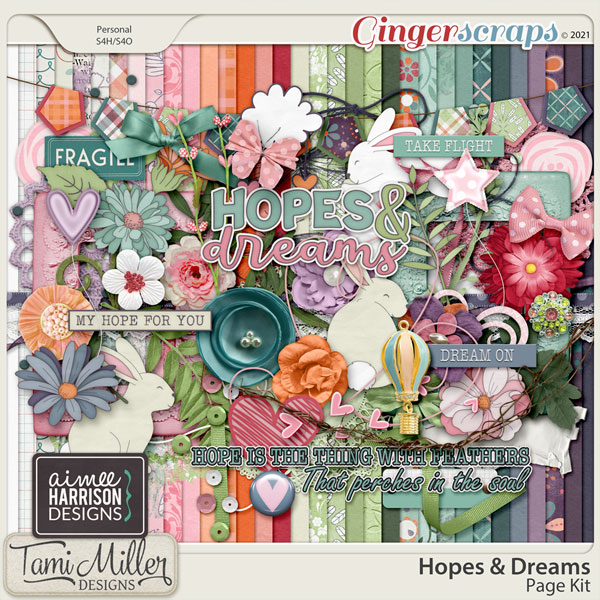 Hopes and Dreams Page Kit by Aimee Harrison and Tami Miller Designs
