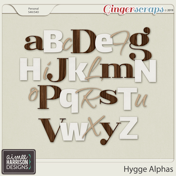 Hygge Alpha Sets by Aimee Harrison