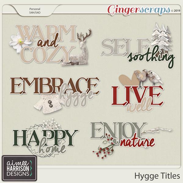 Hygge Titles by Aimee Harrison