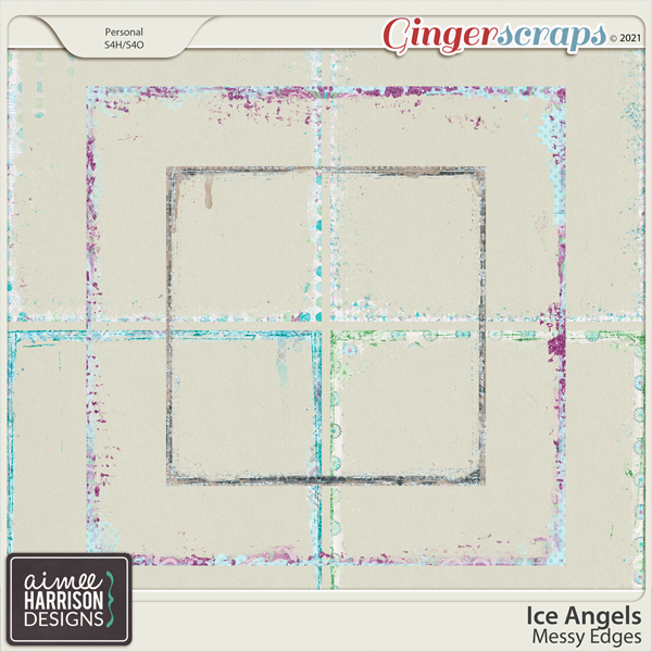 Ice Angels Messy Edges by Aimee Harrison