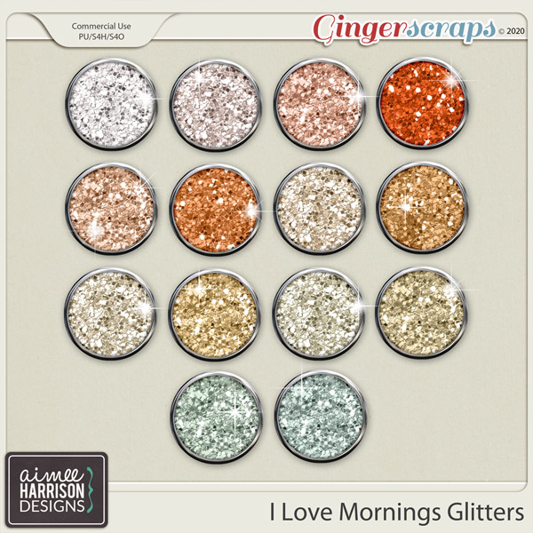 I Love Mornings Glitters by Aimee Harrison