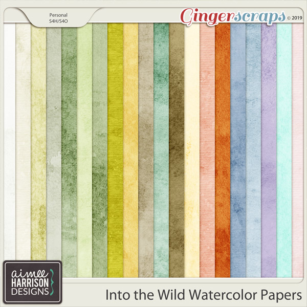 Into the Wild Watercolor Papers by Aimee Harrison