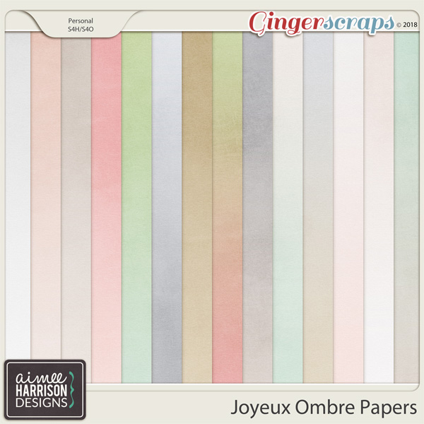 Joyeux Ombre Papers by Aimee Harrison