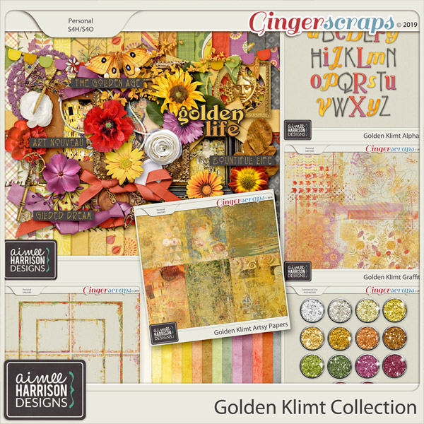 Golden Klimt Collection by Aimee Harrison